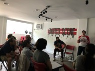 Sketch comedy workshop we teach at the Unified Scene Theater